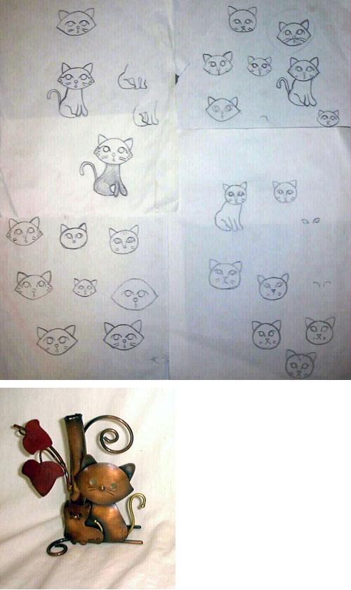 フクロウの次にネコが人気〜新しいネコのデザイン